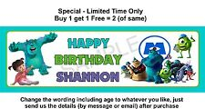 Monsters Birthday Party Banner Sign, Children, Child, Kids, Theme: MONSTERS INC