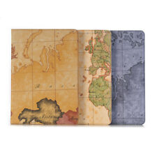 """Leather Wallet Card Flip map Case Cover For iPad 9.7"""" Pro 10.5 12.9 Air 2 Mini 4"""