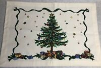 DII Placemats Christmas Tree Set of 4 100% Cotton Stars Presents