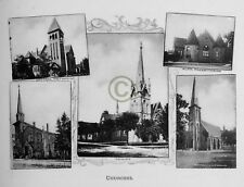 """ST.THOMAS Ontario CANADA """"CHURCHES"""" in 1906 Reprint on Pro Glossy Paper"""