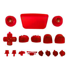 Full button set for Sony PS5 controller mod set - Clear Red   ZedLabz