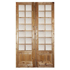 "Pair of Antique 54"" French Double Doors with Glass, Ned1399"