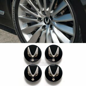 Genuine Parts Wing Logo Wheel Center Hub Caps Cover Emblem Badge 4P for HYUNDAI