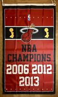 MIAMI HEAT NBA Championship Flag 3x5 ft Vertical Banner Flag
