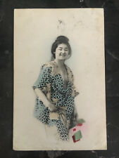 1914 Tsingtau China RPPC Real Picture Postcard Cover to Germany Woman in Dress
