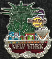 Hard Rock Cafe NEW YORK Times Square 2017 Core City ICONS Series PIN New on CARD