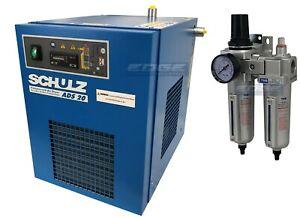 SCHULZ 20 CFM REFRIGERATED COMPRESSED AIR COMPRESSOR DRYER 115V, COMPLETE KIT