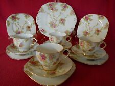 VINTAGE ART DECO WELLINGTON CHINA PART TEA SET J.H.C & CO NO. 7317 PRETTY FLORAL