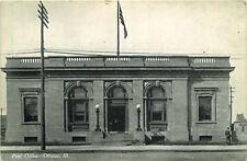 Postcard Post Office in Ottawa, Illinois - used in 1909