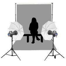 Group School Photography Portrait Kit Bright Powerful Mains Power Lighting 200ws