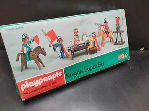 vintage PLAYPEOPLE PLAYMOBIL KNIGHTS SUPER SET BOXED - VGC - 1710. CLASSIC