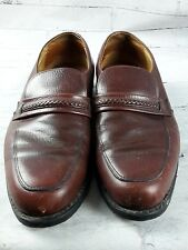 Vintage UFCW Leather Brown Shoes Mens 10.5 E Wonder Walker Insoles Catspaw Heels