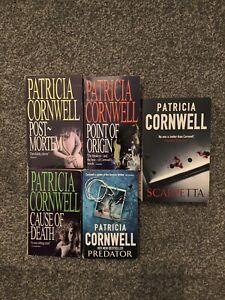 Patricia Cornwell Bundle Of 5 Books  (Paperback) Thriller And Crime.