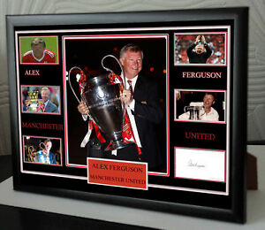 ALEX FERGUSON MAN UTD Framed A4 Canvas Tribute Limited Edition Print  Signed