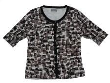 JACQUI E animal leopard print KNIT CARDIGAN L 14 short sleeve 3+ITEMS= FREE POST