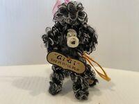 """Vintage GiGi the Playful Pup Poodle 1950's Chenille Pipe Cleaner with Hanger 4"""""""