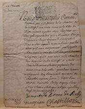 Manuscrit : Lettre de Noblesse Philippe Thomassin datée 21 juin 1700