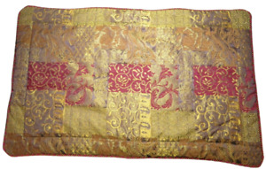 x2 Croscill Home Galleria Set KING Size Pillow Shams Red Gold Braided Rope Trim