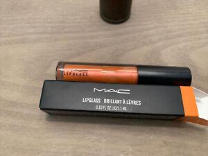 MAC SHAPESHIFTING PEACH Lipglass Lip Gloss Full Size.10oz/3.1ml AUTHENTIC