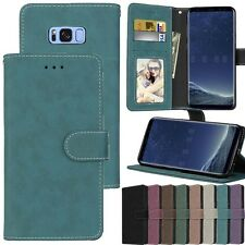 Card Holder Leather Flip Wallet Case Cover Stand Retro For iPhone Xiaomi Sony