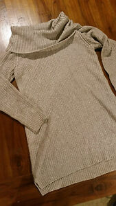WhiteHouse BlackMarket Bone knit roll neck Jumper/Tunic szL BNWOT free post D83