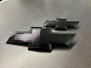 Genuine 2021 Suburban/Tahoe Full Gloss Black Bowtie Emblem set