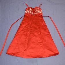 Red Satin Children Dress 122 Flower Girl Communion Gala Dress Christmas