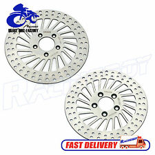 "11.5"" Harley 1 Front 1 Rear Brake Disc Rotor Softail FLSTN Deluxe FLSTF Fat Boy"