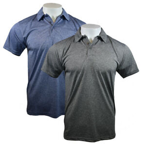 Mens Polo Shirt Tee Active Fitted Polo Heather Soft Fabric PRO21 S to 3XL NEW