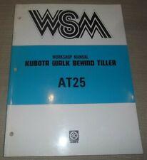 Kubota At25 Walk Behind Tiller Service Shop Repair Workshop Manual