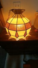 A+ VINTAGE NOVA IMPORTS BEAUTIFUL LEAD STAINED GLASS LAMP - LIGHT SHADE