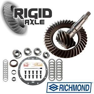 "Genuine Richmond 3.73 Ring Pinion Gear Set w/ Master Bearing Kit GM 8.6"" 10 Bolt"