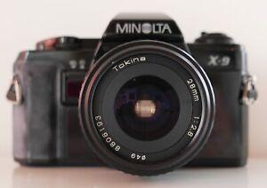 Appareil photo Minolta X9—Objectif 28 mm—Ouverture 2,8