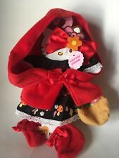 New Rare Hello Kitty Dress up Doll Me Fairy Tale Red Ridding Hood Costume Sanrio