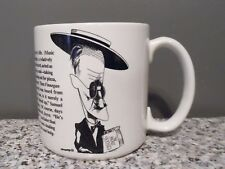 James Joyce Caricature Teacup Coffee Mug Mystery Irish Writer Novel