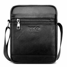Men Elegant Shoulder Messenger Bag Handbag Small Black Polyurethane Leather HOT
