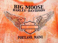 Harley-Davidson Big Moose Portland, Maine Women's S Authentic Label T-shirt VGC!