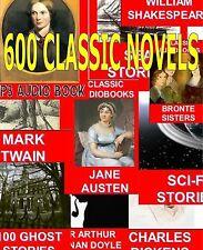 600+ MP3 Audiolibros Clásico Novelas, Short Historias Poems, educativos CD DVDs