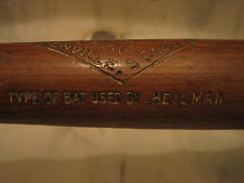 Harry Heilmann Vintage Zinn Beck Game Used Bat Tigers
