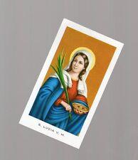santino santa lucia con prece sul retro