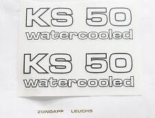 Zündapp Aufkleber 2x KS 50 watercooled Seitendeckel KS 50 WC typ 530