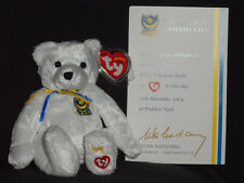 Ty P.F.C. Pfc the Bear Beanie Baby With Card - Uk Exclusive - Mint Tag