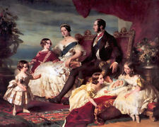 Oil Queen Victoria and Prince Albert with Five of Their Children in landscape