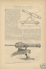 1886 U.S. Naval Artillery Navy Cannon Weapons article