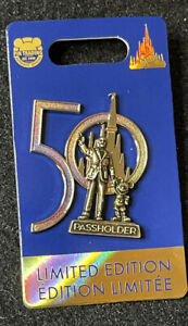 Disney 50th Anniversary Walt And Mickey Passholder Pin New LE 3000 Pin In Hand