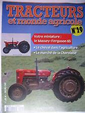 FASCICULE 29 TRACTEURS ET MONDE AGRICOLE MASSEY FERGUSSON 65