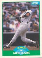 Jack Clark 1989 Score #25 New York Yankees baseball card
