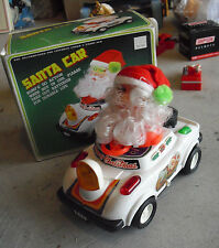 Vintage 1984 Woolworth Battery Operated Santa Claus in Car in Box