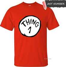 DR SEUSS THING 1 ADULT T-SHIRT CAT IN THE HAT ANY NUMBER 100% COTTON XS S M L