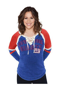 NFL New York GIANTS Back Shot Jersey Lace up Sexy Tee Shirt~XL